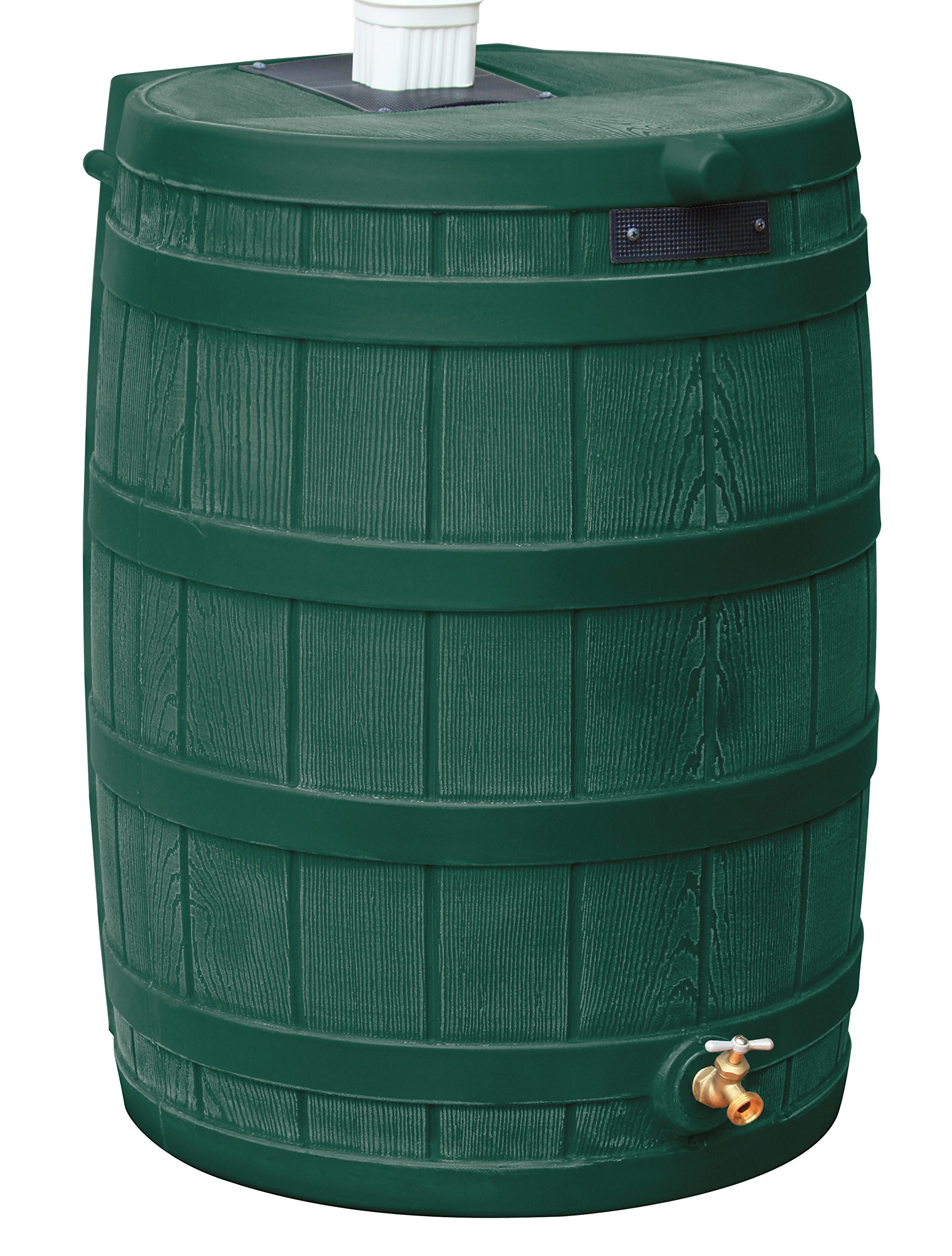 Good Ideas RW50-GRN Rain Wizard Rain Barrel 50-Gallon, Green
