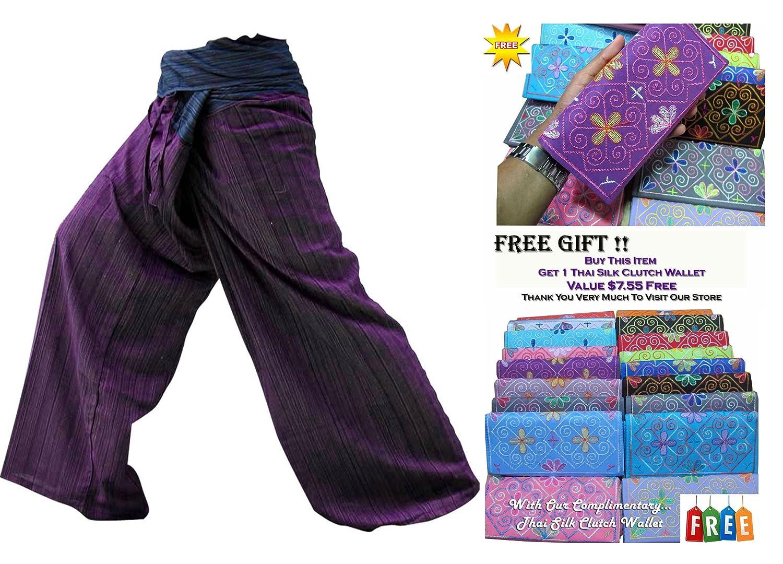 Zenza Fashion Bonita 2Ton Thai Fisherman Pantalones Yoga Pantalones Gratis tamaño Plus Tamaño algodón Broca con passende