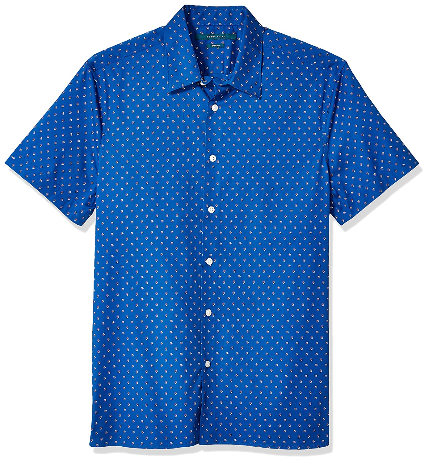 Perry Ellis Mens Stretch Printed Geo Shirt