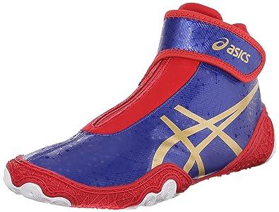 Asics Wrestling shoes Mens Red Blue Gold Omniflex attack V2 0 Asics