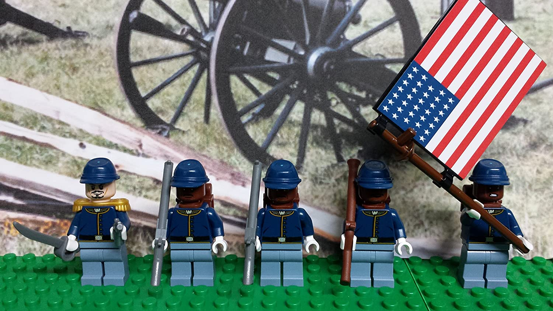 LEGO Civil War Union 54th Massachusetts Regiment.