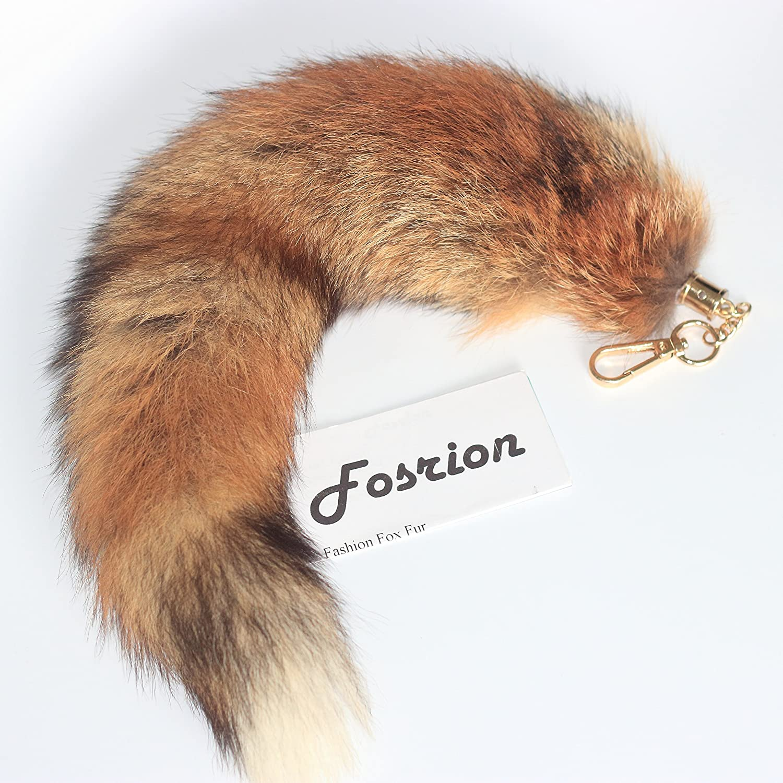handmade real fur black fox straps recycled fur Keyrings made Quebec