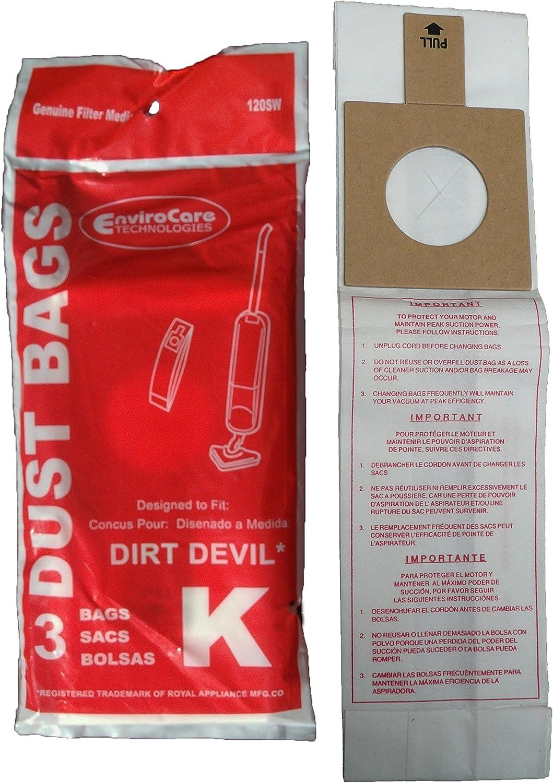 Dirt Devil Type K 10 Pak Vacuum Bags 3320235001