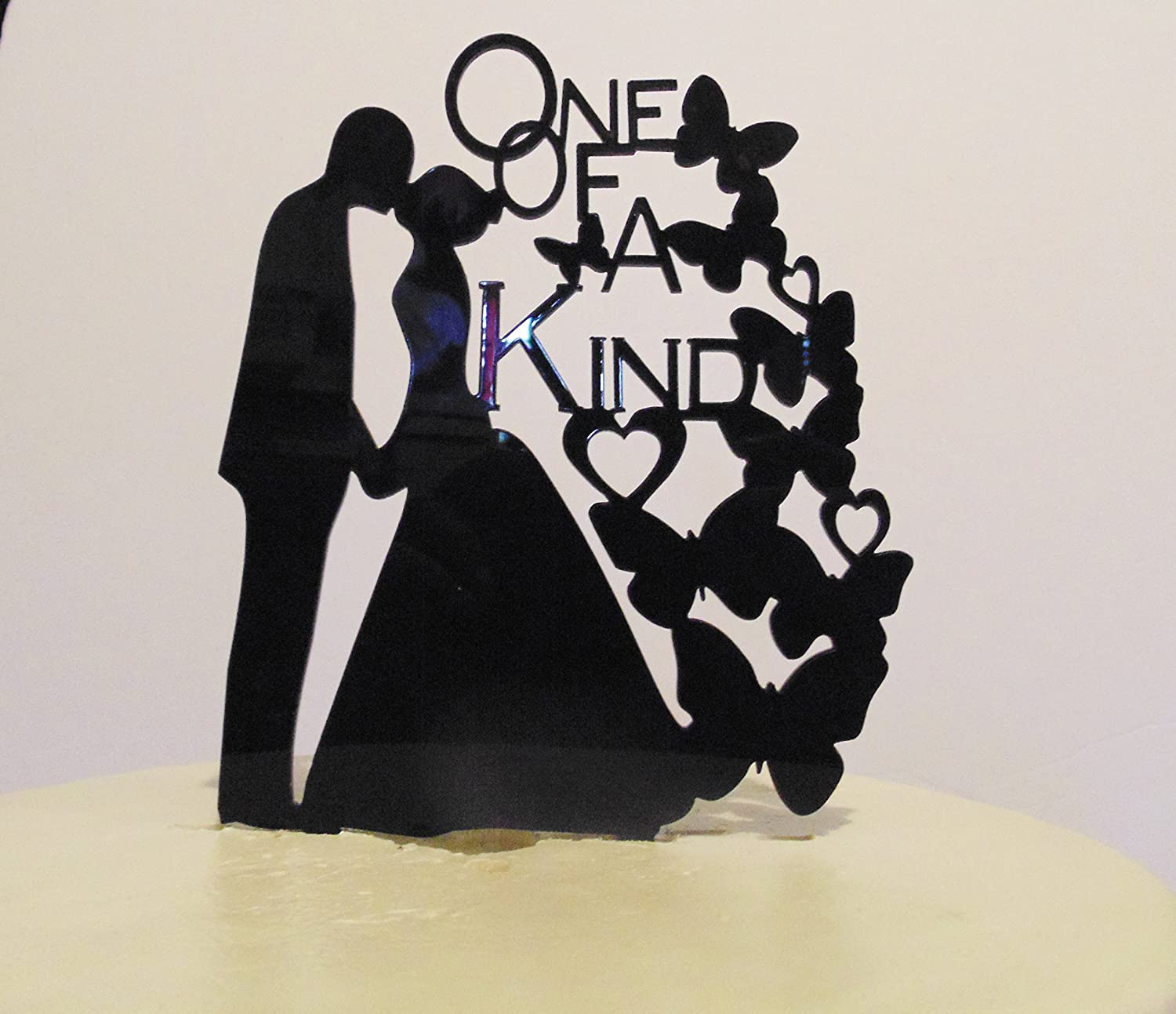 One Of A Kind Wedding Acrylic Cake Topper