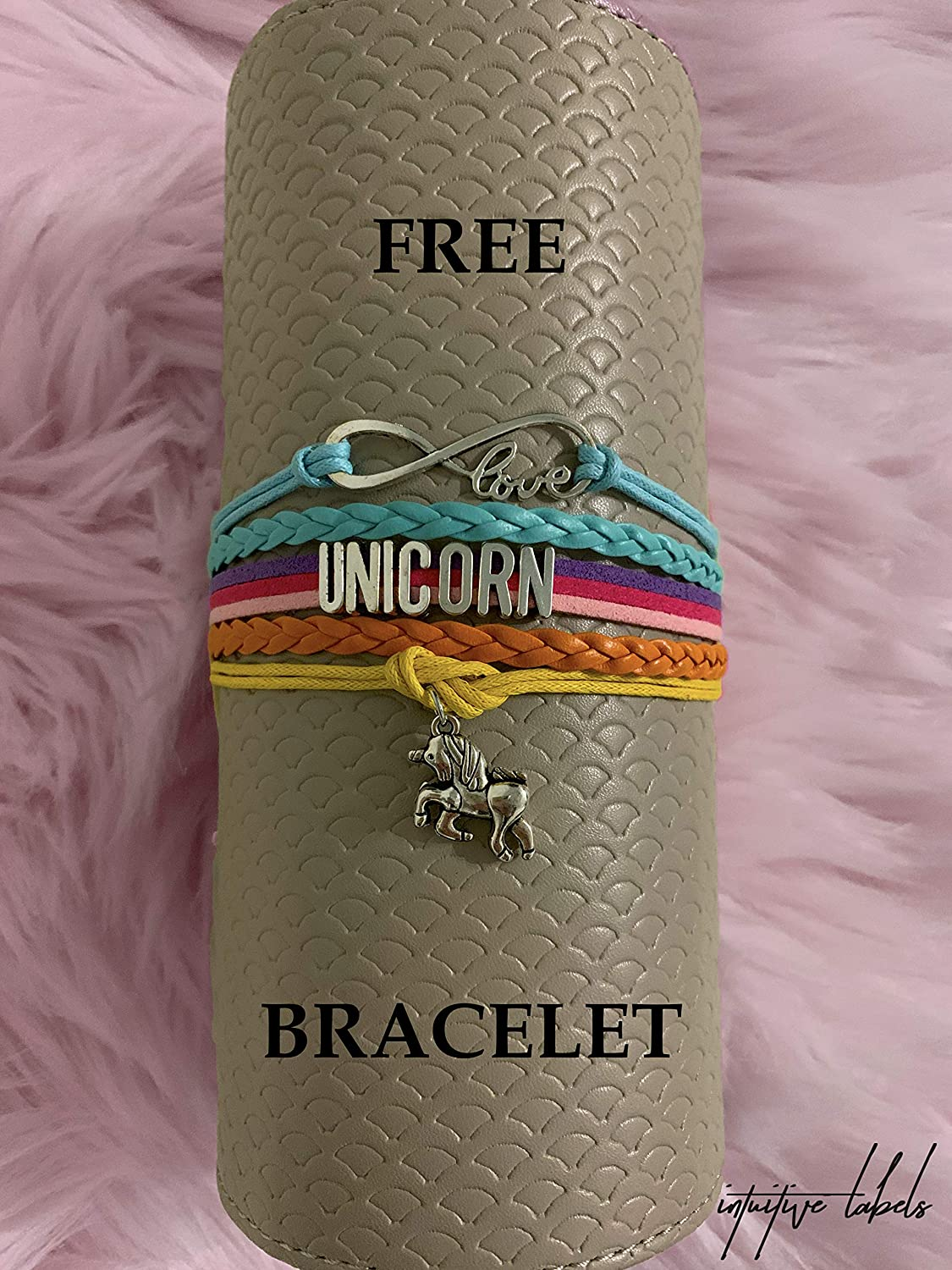 Intuitive Labels Unicorn Night Light with Free Unicorn Bracelet Bedside Lamp 7 Colors LED for Kids Children Desk Decor with Remote Amazing Gift Birthday Christmas Unicorn Lovers