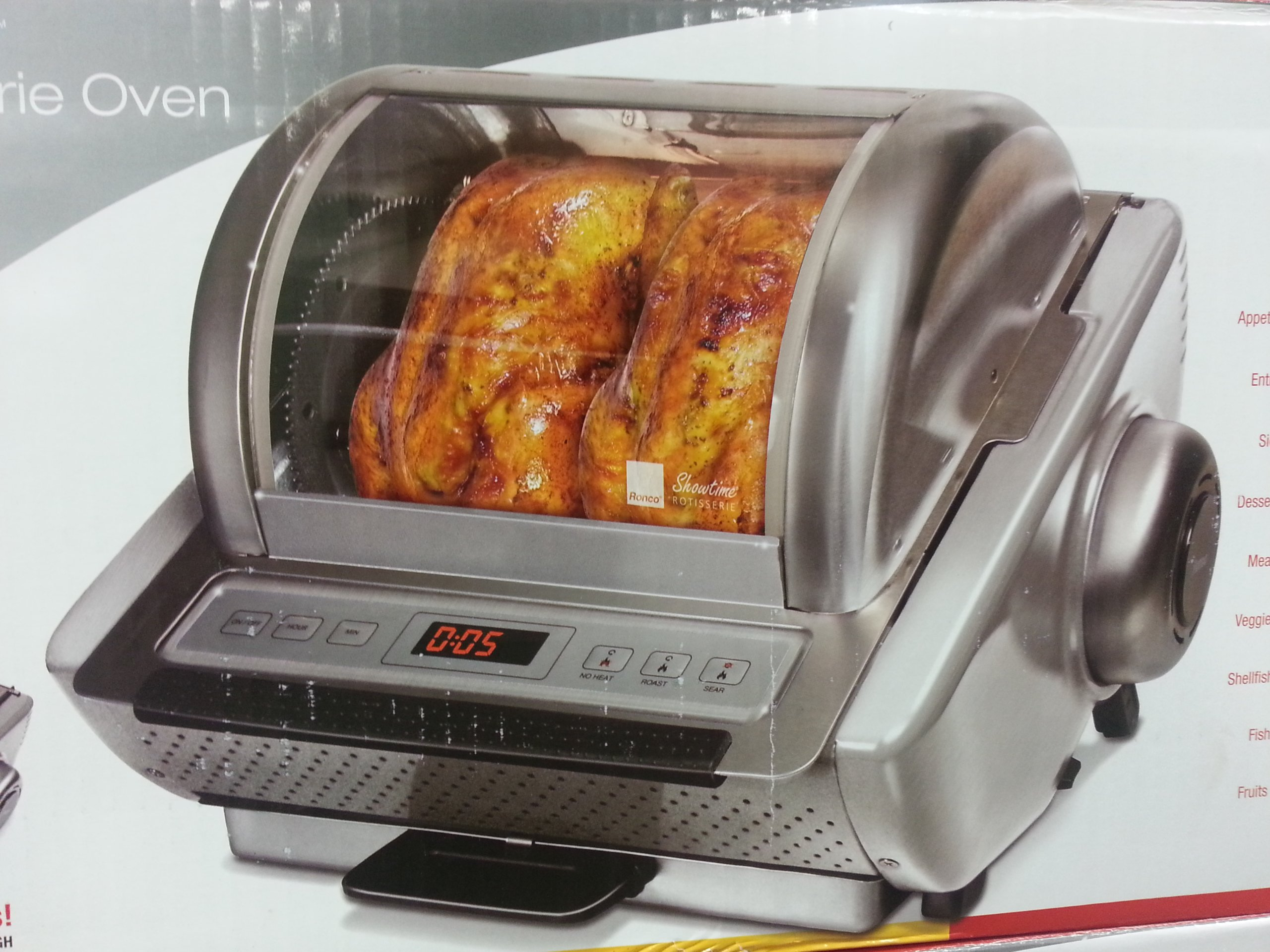 Ronco EZ Store Rotisserie Oven (stainless steel) by Ronco