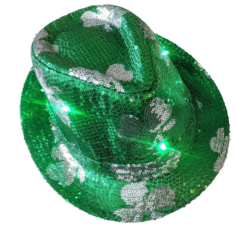 Shamrock The Electric Mammoth LED Light Up Flashing Fedora Hat