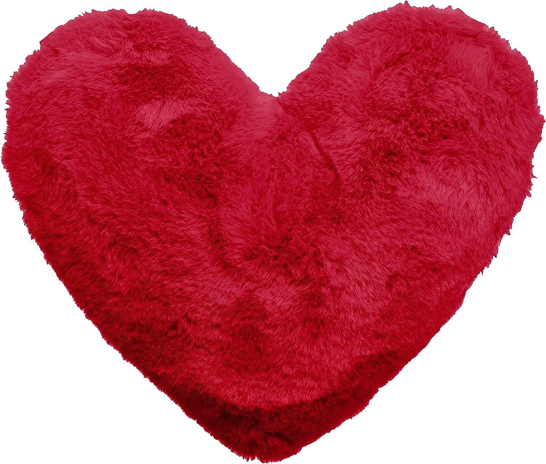 Brandsseller – Cojín con forma de corazón (aprox. 40 x 30 cm) 40 x 30 cm, color rojo