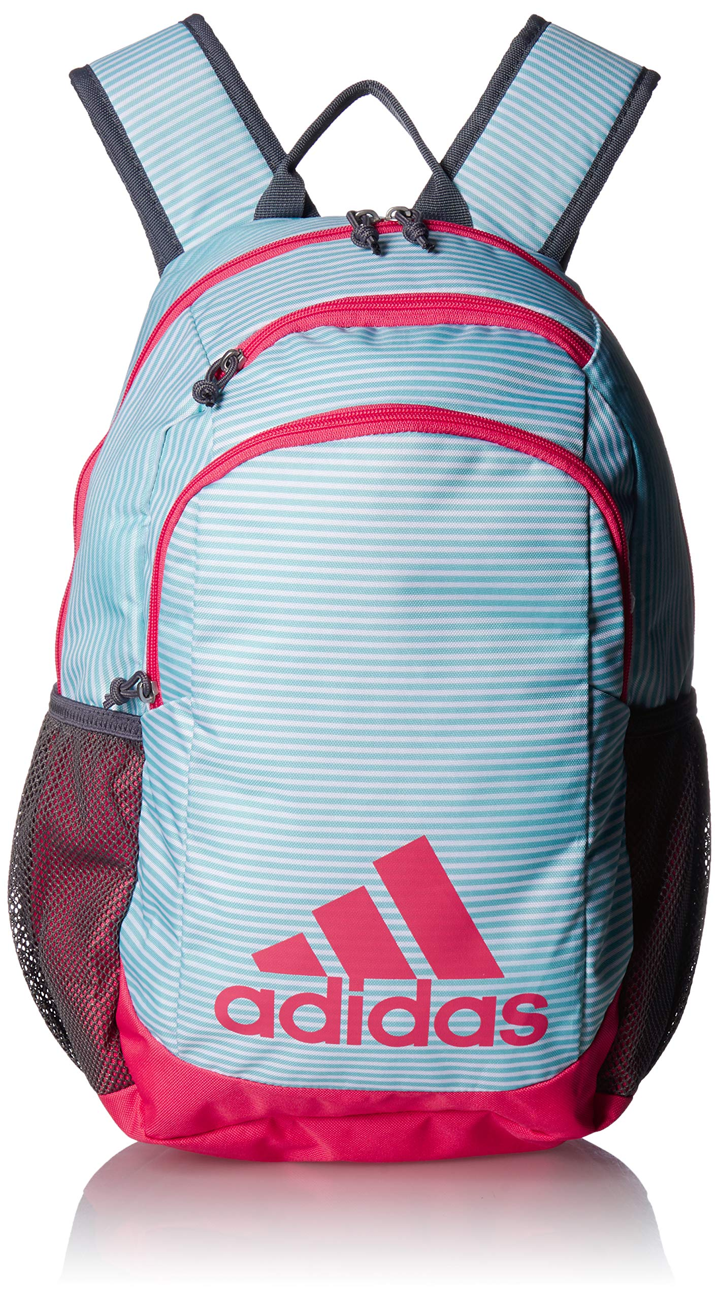 adidas Youth Kids-Boy's/Girl's Young Creator Backpack, Clear Aqua Sundown/Real Pink/Onix, 0 by adidas