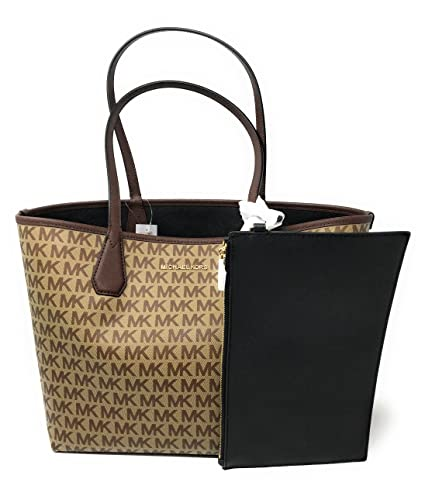 Amazon.com: Michael Kors Candy Large Reversible PVC Tote - BG/EB/Black: Clothing