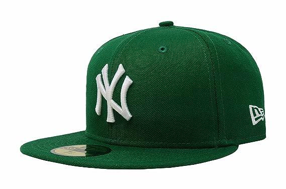 2332cf5e8 New Era Mens MLB Basic NY Yankees 59fifty Fitted Cap, Kelly Green at ...