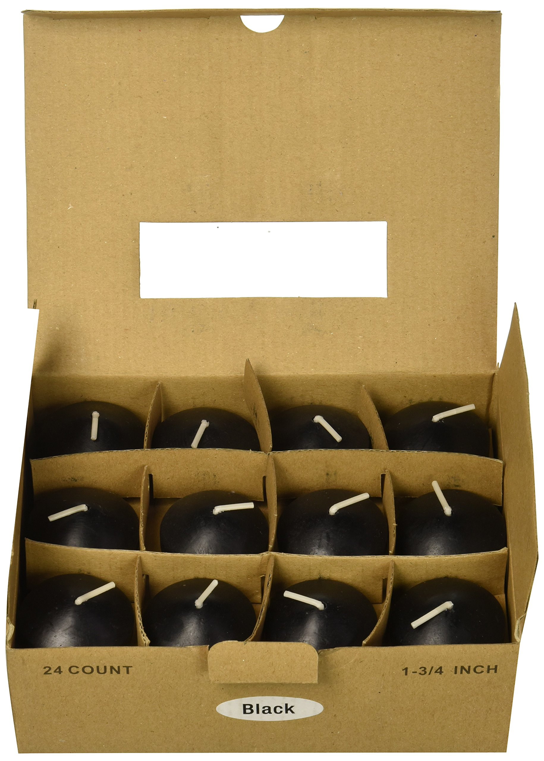 Zest Candle 24-Piece Floating Candles, 1.75-Inch, Black by Zest Candle (Image #2)