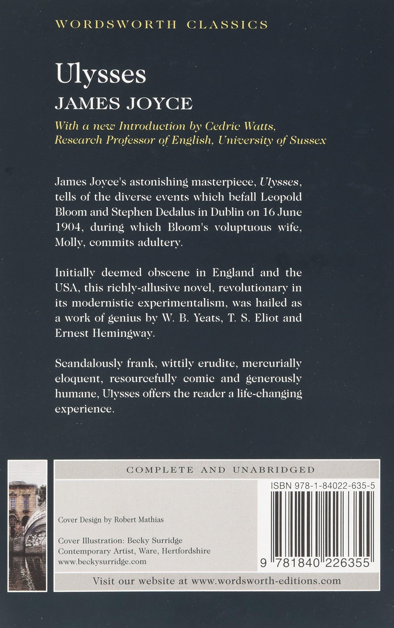 Ulysses: James Joyce, Dr Keith Carabine, Emeritus Professor of English  Cedric Watts M a PH D: 9781840226355: Literature: Amazon Canada