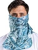 Aqua Design Sun Protection for Men Size Adjustable UPF 50+ ProMax UV Mask Tube
