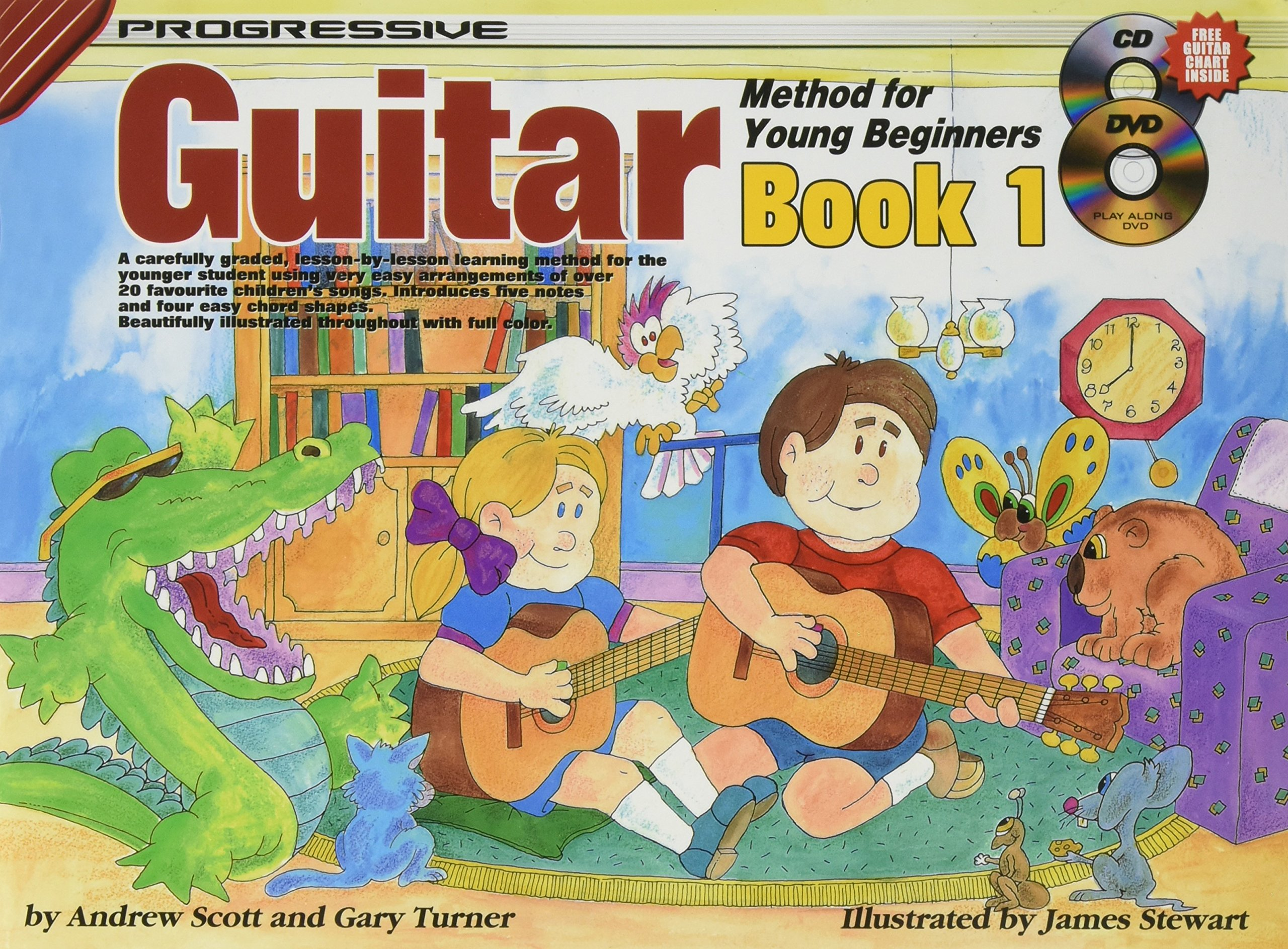 CP18322 - Progressive Guitar Method for Young Beginners Book 1 - Book/Online Audio and Video (Progressive Young Beginners)