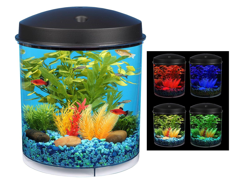 Fish aquarium lighting systems - Amazon Com Api Aquaview 360 Aquarium Kit With Led Lighting And Internal Filter 2 Gallon Topfin Fish Aquariums Pet Supplies