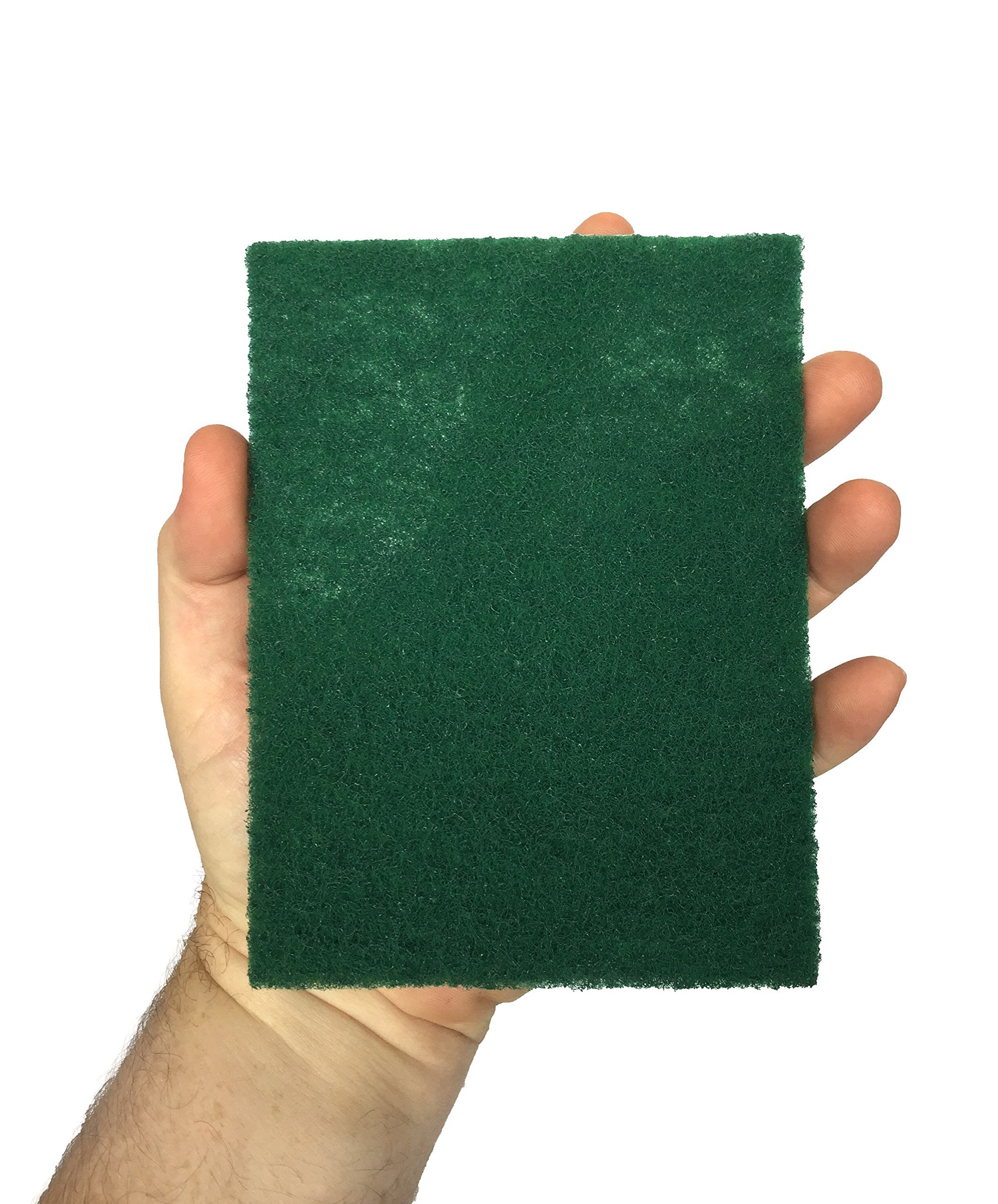 HeRO Dish Scrubber Scouring Pads - Household Scrub Pads for Stove Top Cleaner and Kitchen Scrubbers for Dishes, Cuts Solvents & Greasy Messes, Green 4.5 x 6 inch (Pack of 40)          by HERO IMPORTS (Image #4)