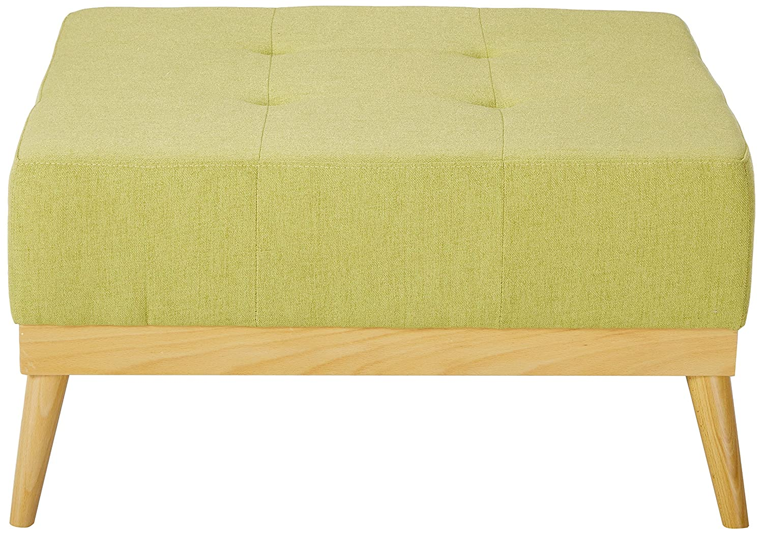 Christopher Knight Home 300230 Living Lou Mid-Century Olive Green Fabric Ottoman, Bright
