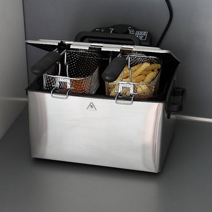 Ultratec-Küche DF5 Freidora doble con zona fría, 5 l, 5 litros
