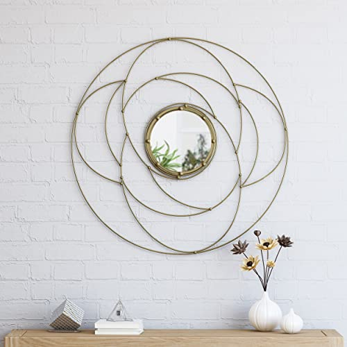 Christopher Knight Home Aileen Modern Circular Wall Mirror, Gold