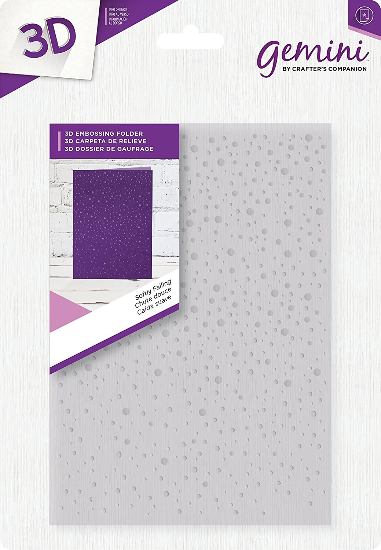 Gemini Softly Falling 3D Embossing Folder, 5 x 7-Inch Crafter's Companion GEM-EF5-3D-SF