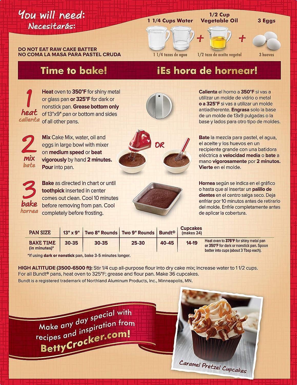 Amazon.com : General Mills Betty Crocker Dark Chocolate Cake, 15.25 oz. : Grocery & Gourmet Food
