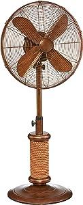 DecoBREEZE Adjustable Height Oscillating Outdoor Pedestal Fan, 18 In, Nautica