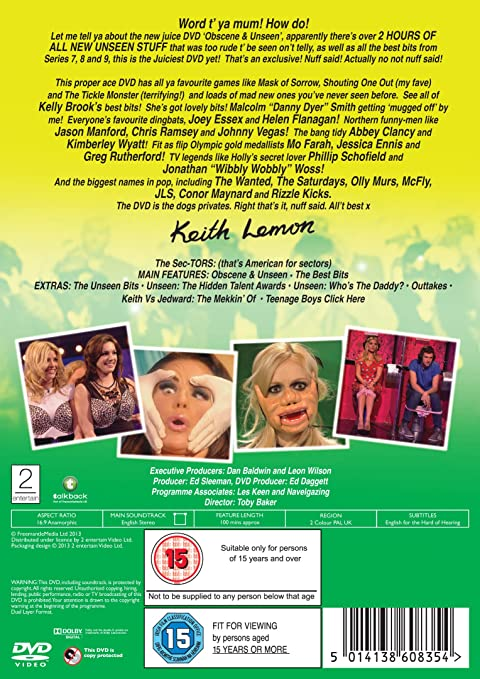 Celebrity Juice: Obscene and Unseen [DVD]: Amazon co uk: Keith Lemon