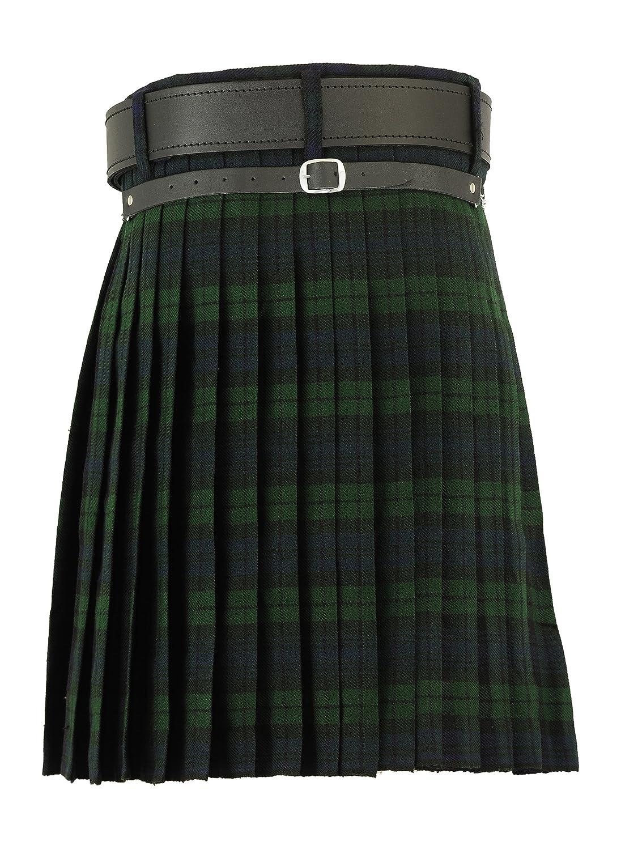 Hamilton Kilts Falda Escocesa Vestido Tierras Altas Tradicional Hombres Kilt Blackwatch