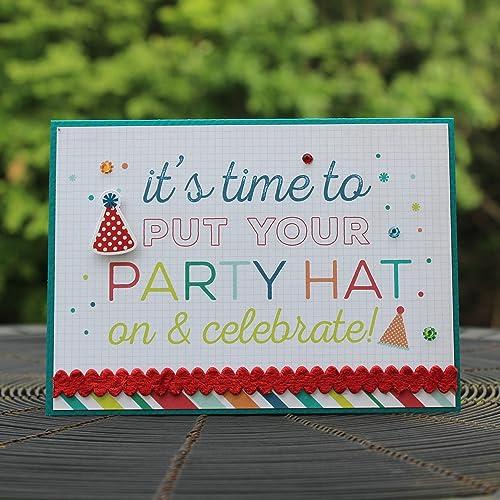 Amazon Party Hat Happy Birthday Handmade Greeting Card Generic