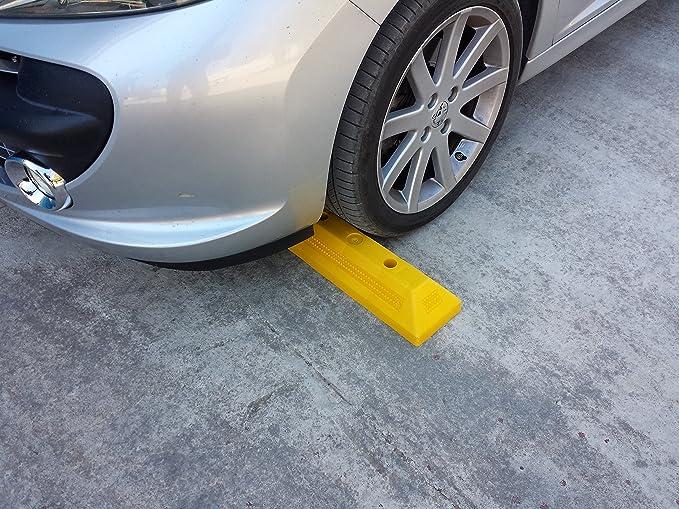 Farbe Gelb PWS-32Yx1 Kunststoff Radstopp-Parkbegrenzung f/ür gewerbliche und private Parkh/äuser Abmessungen 53 x15 x 9,5 cm 1 St/ück Parkpl/ätze und Privatgaragen