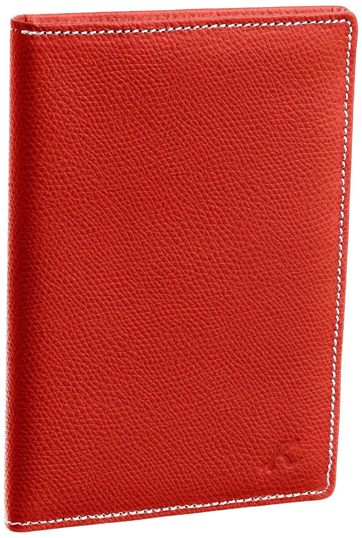 [キタムラ] カードケース PH0343 B009318JTG  レッド/アイボリーステッチ [赤] 70912