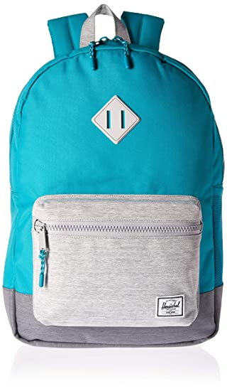 2e808c0928a Herschel Kids  Heritage Youth XL Children s Backpack Tile Blue Light Mid Grey  Crosshatch