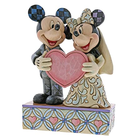 Disney Traditions Two Souls, One Heart Mickey and Minnie Mouse ...