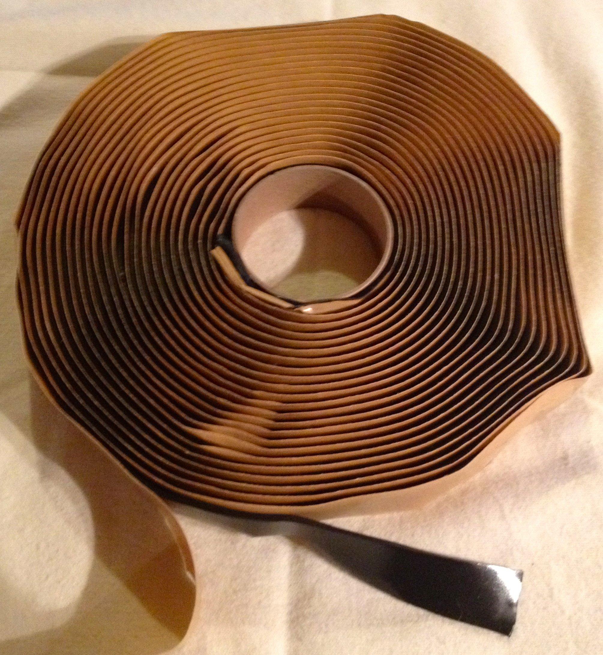 Colorimetrics Black Putty Tape / Butyl Tape 1/8'' x 3/4'' x 30' by DEHCO