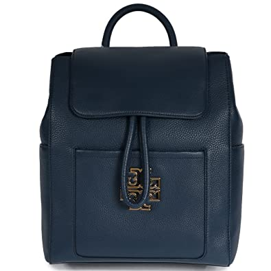 45320e272e90 Image Unavailable. Image not available for. Color  Tory Burch Britten  Pebbled Leather Backpack Bag