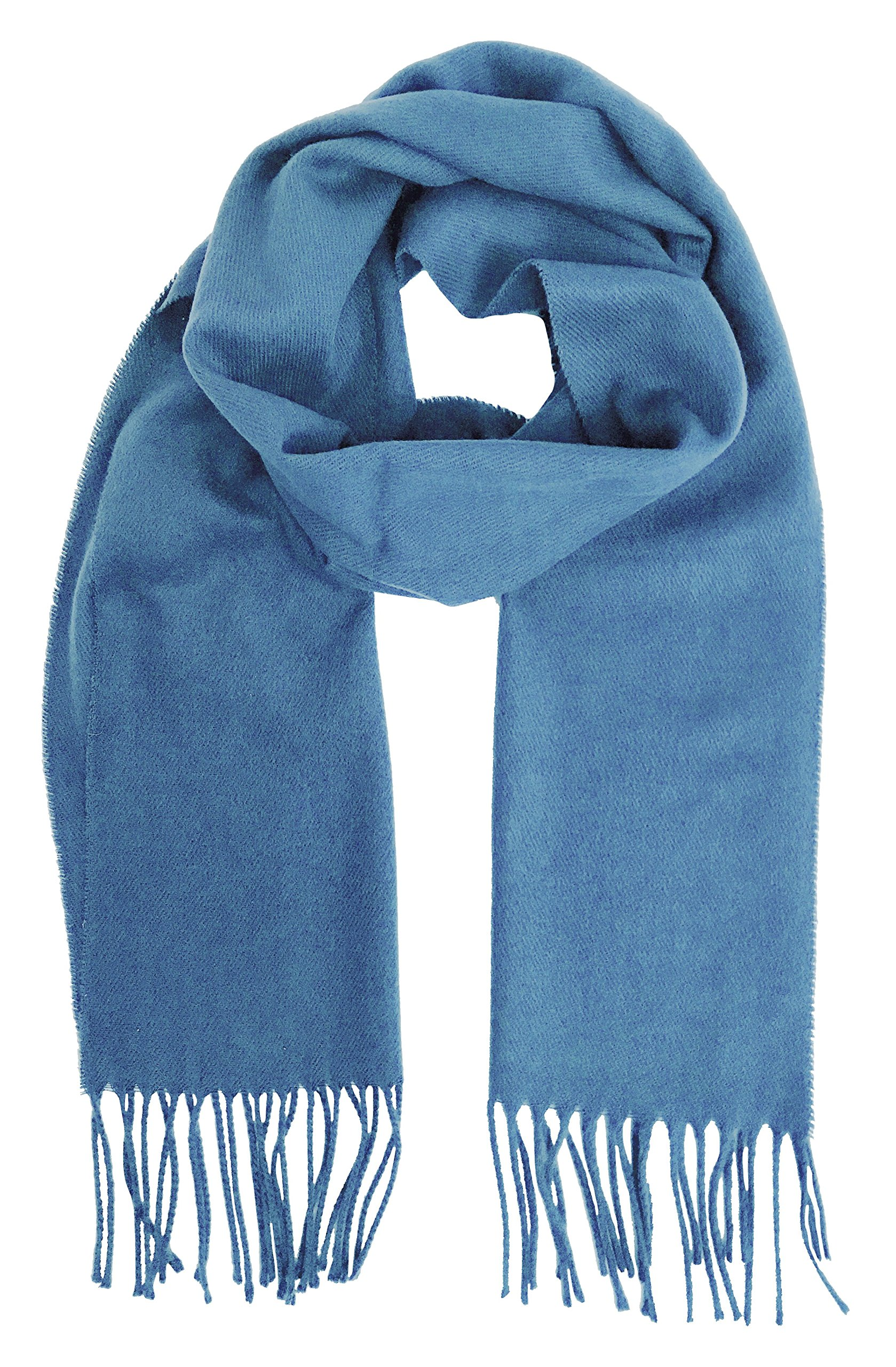 Geoffrey Beene Men's Scarf Cashmere Feel Made in Italy (Blue)