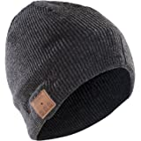 Sharon Music Beanie Cap AirPods - Cappello Smart con auricolari stereo e microfono integrato, Wireless, Grigio scuro