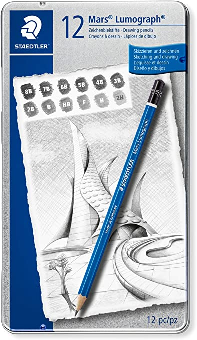 Staedtler Mars Lumograph 100 G12 S. Pack de 12 lápices de dibujo ...