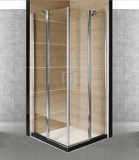 Box cabina doccia con 2 porte a battente in vetro temperato ...
