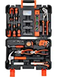 Black Plus Decker BMT154C Professional Hand Tool Kit (154-Pieces), Orange and Black