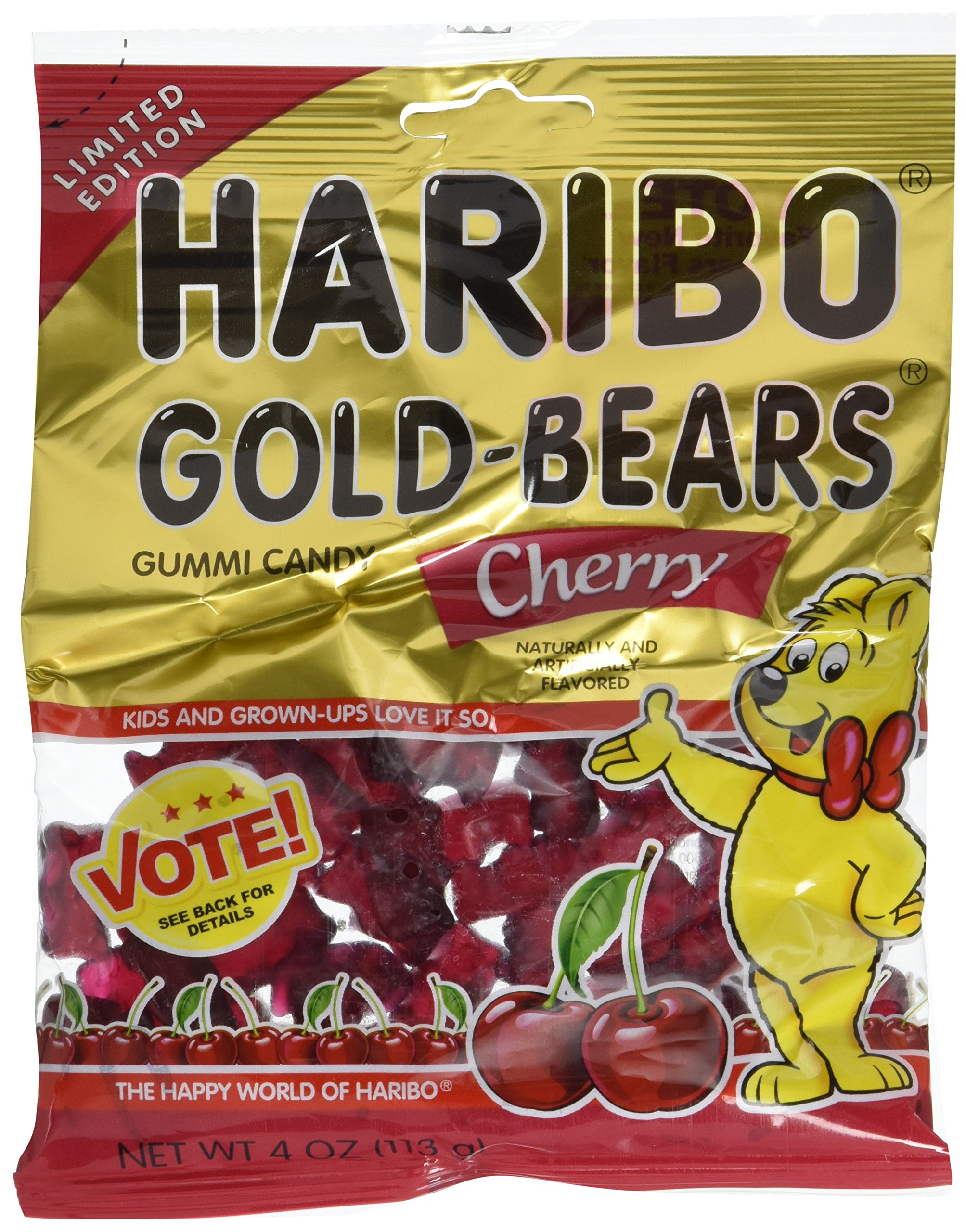 Haribo gummy bears are just one of many products that thomas - Haribo Gold Bears Gummi Candy Limited Edition Cherry Flavor 4 Ounce Bag