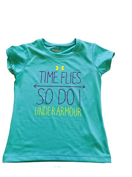 03c587ef1 Amazon.com: Under Armour Girl's 'Time Flies and So Do I' (Mosaic, 4 ...