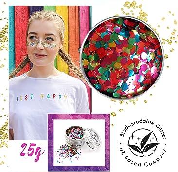EcoStardust Mega Rainbow Purpurina biodegradable para rostro ...