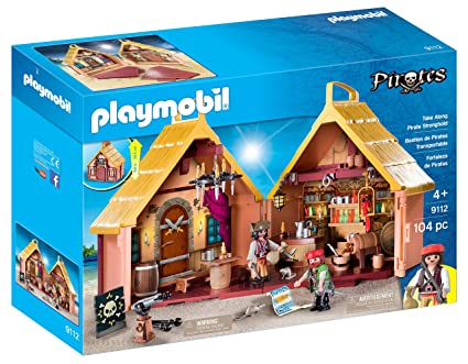 Smuk Amazon.com: PLAYMOBIL Take Along Pirate Stronghold: Toys & Games DA-25