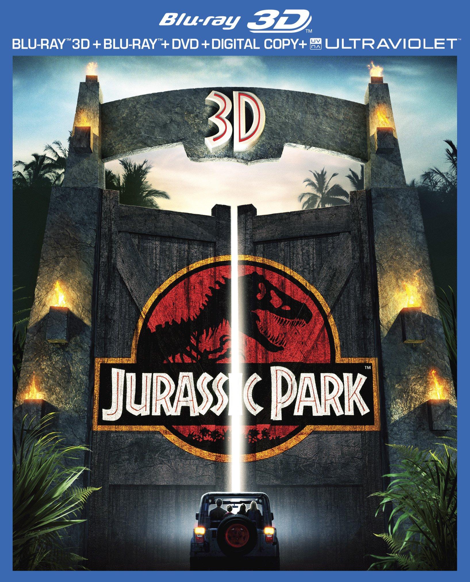 Blu-ray 3D : Jurassic Park (With DVD, Ultraviolet Digital Copy, Digital Copy, 3 Pack, 3 Dimensional)