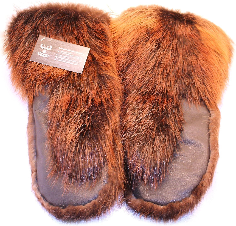 Men/'s gloves beaver fur  mittens
