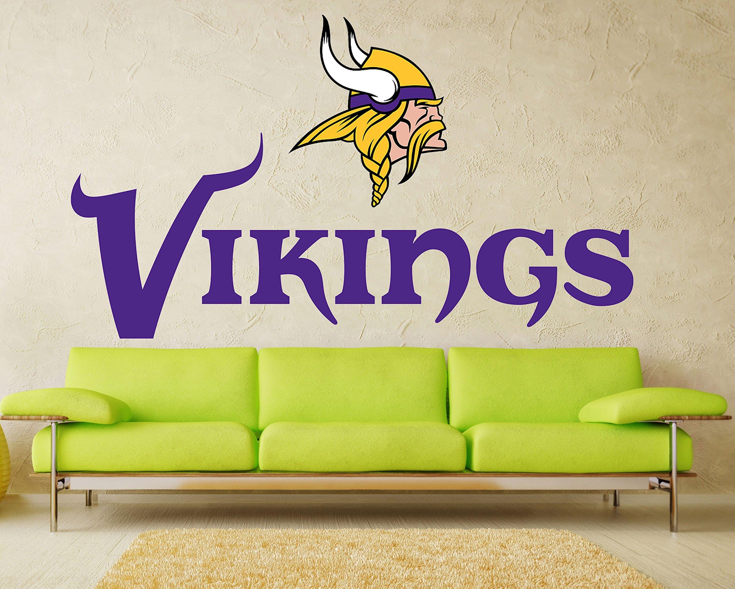 Minnesota Vikings sticker, Minnesota Vikings decal, Vikings decal, Vikings sticker, Minnesota Vikings home decor, Minnesota, Vikings bumper sticker, Vikings NFL sticker, vmb01 (30x60) by stickalz