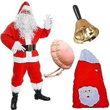 Festive Plush Sitting English Rugby Santa Father Christmas Ornament