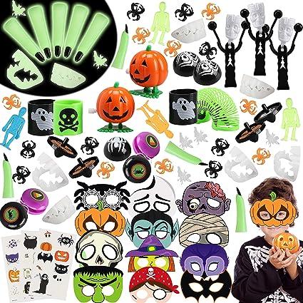 Spooky Orange Pumpkins X 8 Paper Halloween Headbands Kids Party Bag Filler